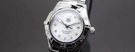 Tag Heuer Aquaracer Lady White MOP Diamond 27 mm