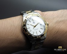 Tag Heuer Aquaracer Two-Tone White Dial 39 mm
