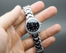 Tag Heuer Link Lady Black Dial Full Diamond 27 mm
