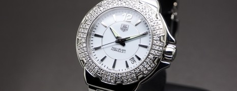 Tag Heuer F1 Lady White Ceramic 120 Diamonds 37 mm