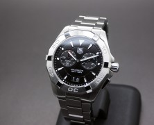 Tag Heuer Aquaracer Quartz Alarm Big Date Black Dial 40.5 mm