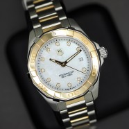 Tag Heuer Aquaracer Lady 2K White MOP Diamond 27 mm (18K Yellow Gold)