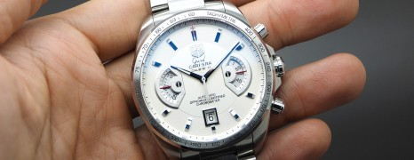 Tag Heuer Grand Carrera Automatic Chronograph Calibre 17 White Dial 43 mm