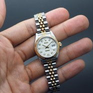 Rolex Datejust 2K Lady Jubilee Silver Diamond Dial 27 mm REF.69173G