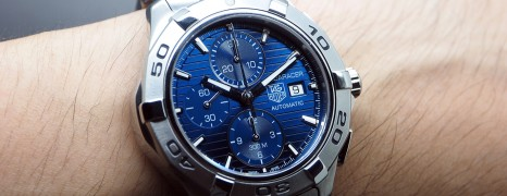 Tag Heuer Aquaracer 300M Calibre 16 Automatic Chronograph Blue Dial 43 mm