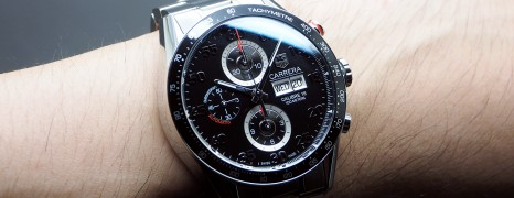 Tag Heuer Carrera Automatic Chronograph Calibre 16 Day-Date Black Dial 43 mm