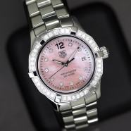 Tag Heuer Aquaracer Lady Pink MOP Full Diamond 27 mm