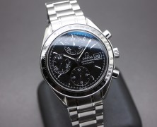 Omega Speedmaster Automatic Chronograph Date Black Dial 39 mm