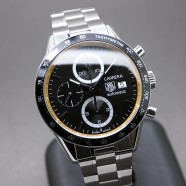 Tag Heuer Carrera Automatic Chronograph Calibre 16 Black Dial 41 mm !!Lewis Hamilton Japan Limited !!