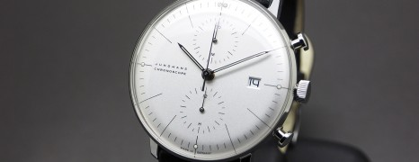 Junghans Max Bill Chronoscope Matte-Silver Dial Date 40 mm Ref. 027/4600.00