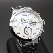 Tag Heuer Carrera Automatic Chronograph Calibre 16 Day-Date White Dial 43 mm