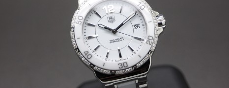 Tag Heuer F1 White Ceramic Round Diamond Boy Size 37 mm