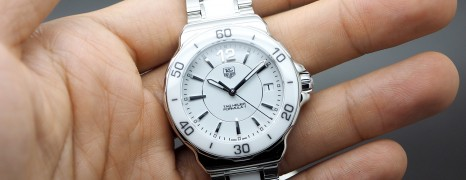 Tag Heuer F1 Quartz White Ceramic Boy Size 37 mm