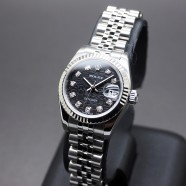Rolex Datejust Lady Jubilee Black Dial Diamond 26 mm Ref.179174 Series Z