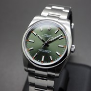 Rolex Oyster Perpetual Olive Green Dial 34 mm REF.114200