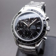 Omega Speedmaster Automatic Chronograph Date Black Dial 40 mm