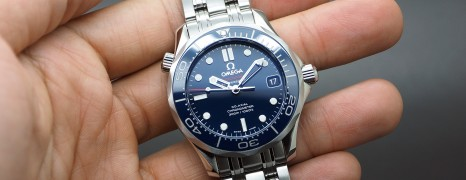Omega Seamaster Diver 300 m Automatic Co-Axial Blue Ceramic Dial Boy Size 36.25 mm