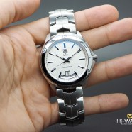 Tag Heuer Link Day-Date Automatic Calibre 5 White Dial 42 mm
