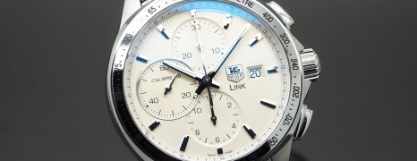 Tag Heuer Link Automatic Chronograph Calibre 16 White Dial 42 mm