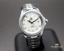 Tag Heuer Link Lady White MOP Full Diamond 27 mm