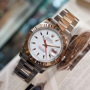 """Rolex Datejust """"Turn-O-Graph"""" White Dial Two Tone Pink Gold 36 mm (Ref.116261 Series D)"""