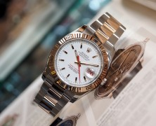"Rolex Datejust ""Turn-O-Graph"" White Dial Two Tone Pink Gold 36 mm (Ref.116261 Series D)"