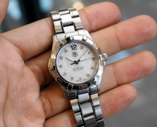 Tag Heuer Aquaracer Lady White MOP Diamond Boy Size 32 mm
