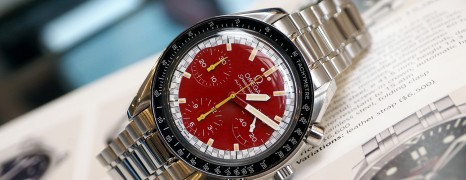 Omega Speedmaster Automatic Chronograph MICHAEL SCHUMACHER Red Dial 39 mm