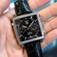 Tag Heuer Monaco Automatic Chronograph Calibre 12 Black Dial 39 mm