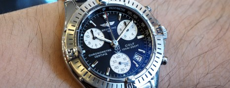 Breitling Colt Quartz Chronograph Black Dial 38 mm