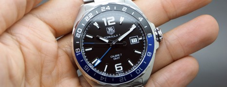 Tag Heuer F1 Automatic Calibre 7 Black Blue Bezel 41 mm