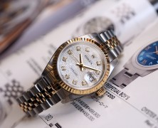 Rolex Datejust Lady Jubilee Two Tone 18K Silver Com Diamond REF.79173