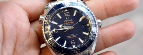 Omega Seamaster Planet Ocean Co-Axial Master Chronometer Blue Dial 39.5 mm