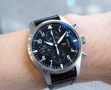 IWC Pilot 377701 Automatic Chronograph Black Dial 43 mm