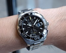 Tag Heuer Aquaracer 300M Calibre 16 Automatic Chronograph Black Ceramic Bezel 43 mm