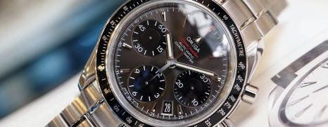 Omega Speedmaster Date Automatic Chronograph Grey Dial 40 mm