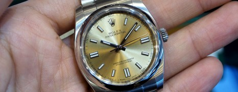 Rolex Oyster Perpetual White Grape 36 mm REF.116000