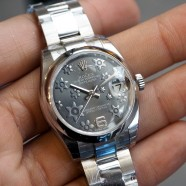 Rolex Datejust Lady Grey Floral Dial 31 mm (NIB)