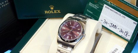 Rolex Oyster Perpetual Red Grape 36 mm REF.116000 NIB