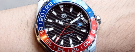"Tag Heuer Aquaracer Automatic GMT Calibre 7 ""PEPSI Bezel"" 43 mm"