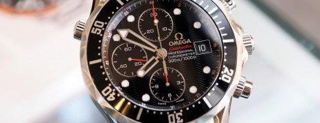 Omega Seamaster Diver 300M Auto Chronograph Black Dial 41.5 mm