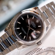 Rolex Datejust Black Dial King Size 36 mm Ref.116200 Series V