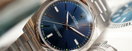 Rolex Oyster Perpetual Blue Dial 39 mm REF.114300