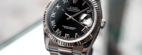 Rolex Datejust Black Roman Dial 36 mm Ref.116234