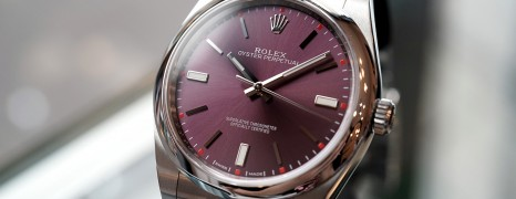 Rolex Oyster Perpetual Red Grape Dial 39 mm REF.114300