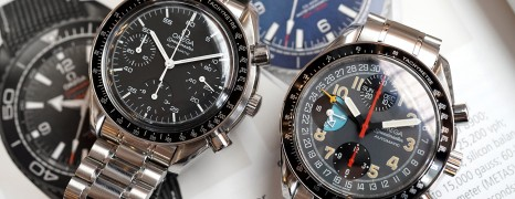 Omega Speedmaster Cartoon Automatic Triple Date Black Dial 39 mm