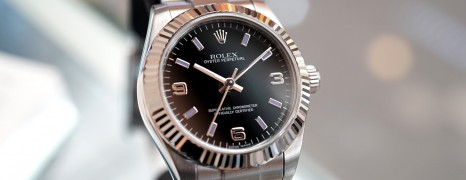 Rolex Oyster Perpetual Lady 369 Black Dial 31 mm Ref.177234