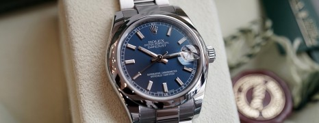Rolex Datejust Blue Dial Boy Size 31 mm REF.178240 Series Z
