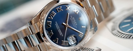 Rolex Datejust Blue Roman Dial Boy Size 31 mm REF.178240 Series Scramble 2017