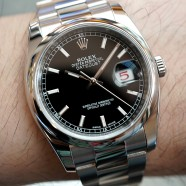 Rolex Datejust Black Dial King Size 36 mm Ref.116200 Scramble Series